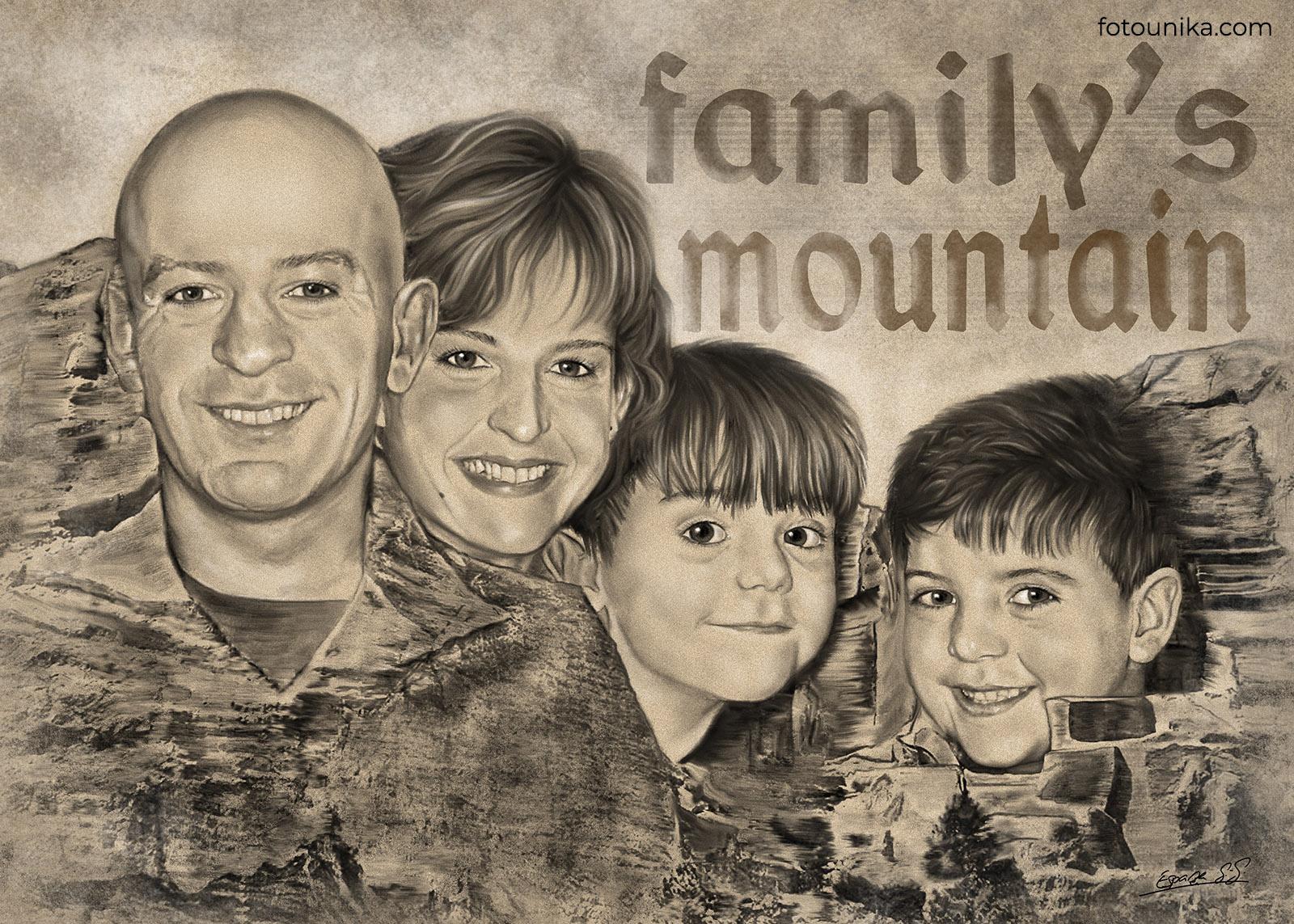 Cuadro familia mountain