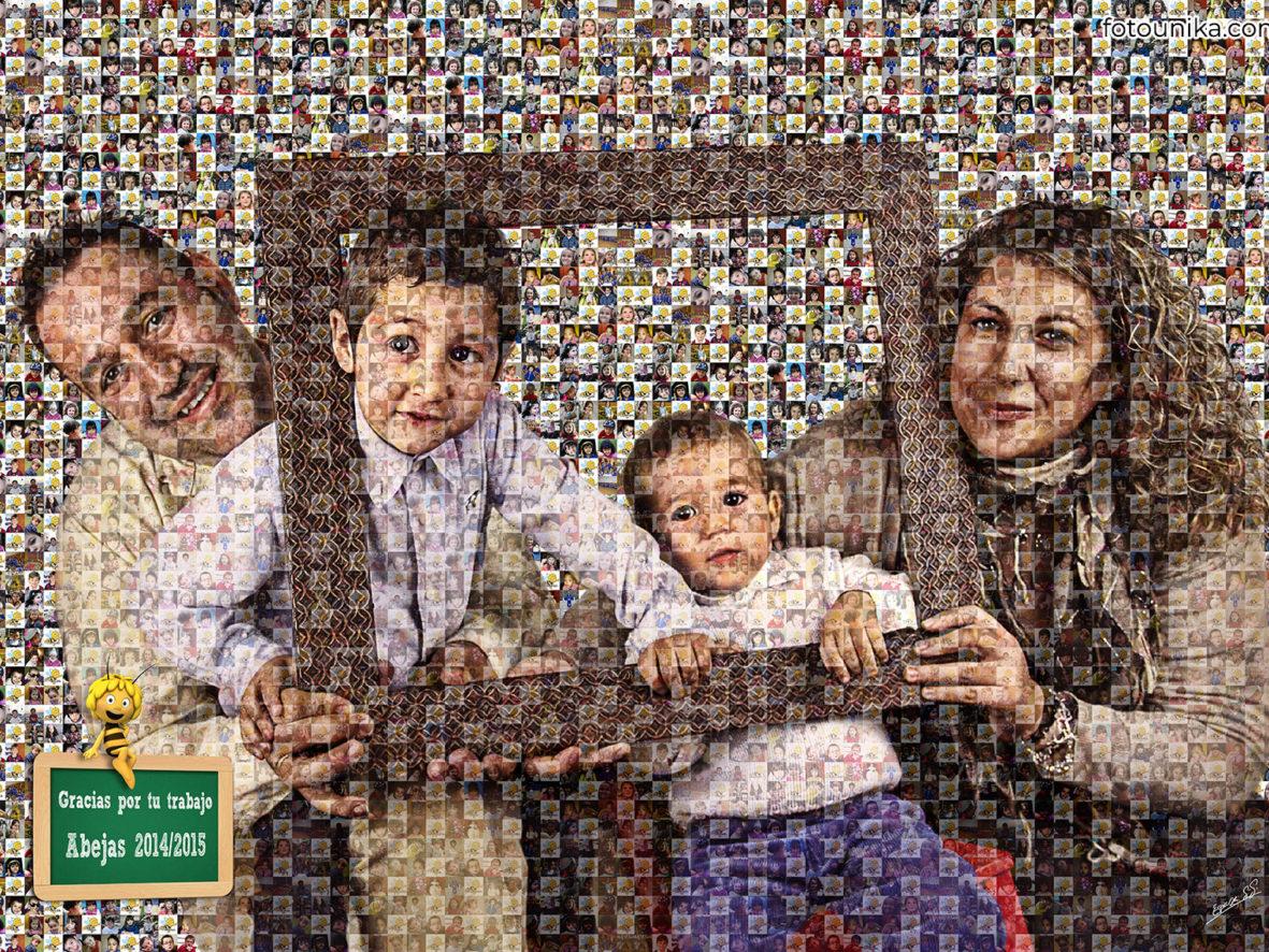 Multifoto familia profesora