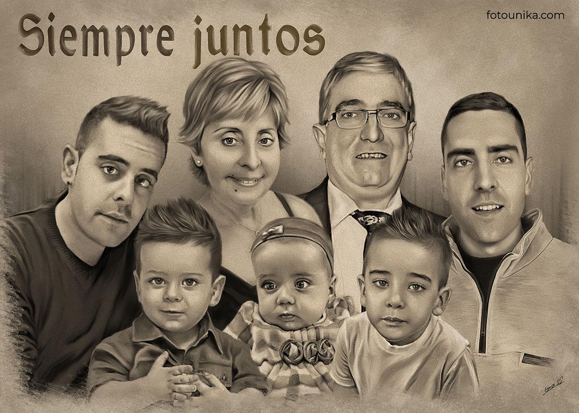 DETALLE BODAS PADRES CARBONCILLO FAMILIA NOVIO A