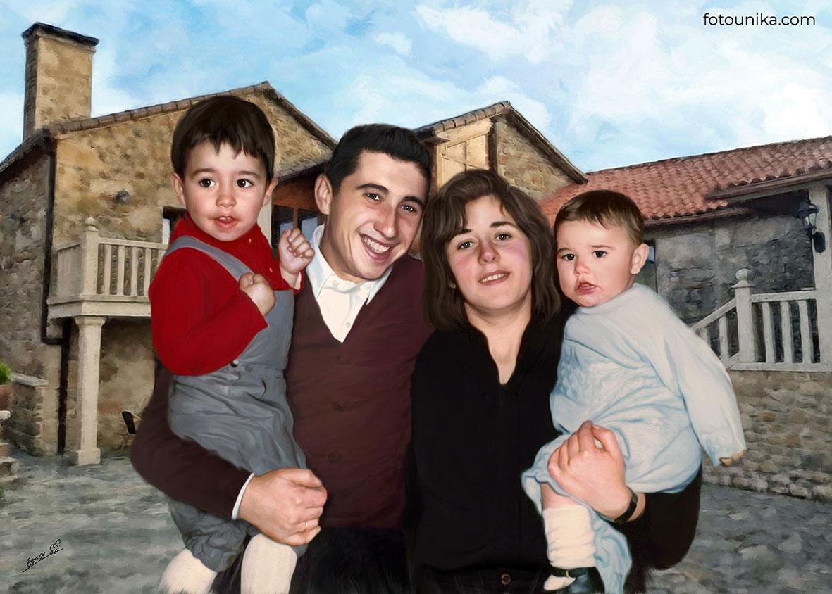 DETALLE BODAS PADRES OLEO FAMILIA NOVIO D