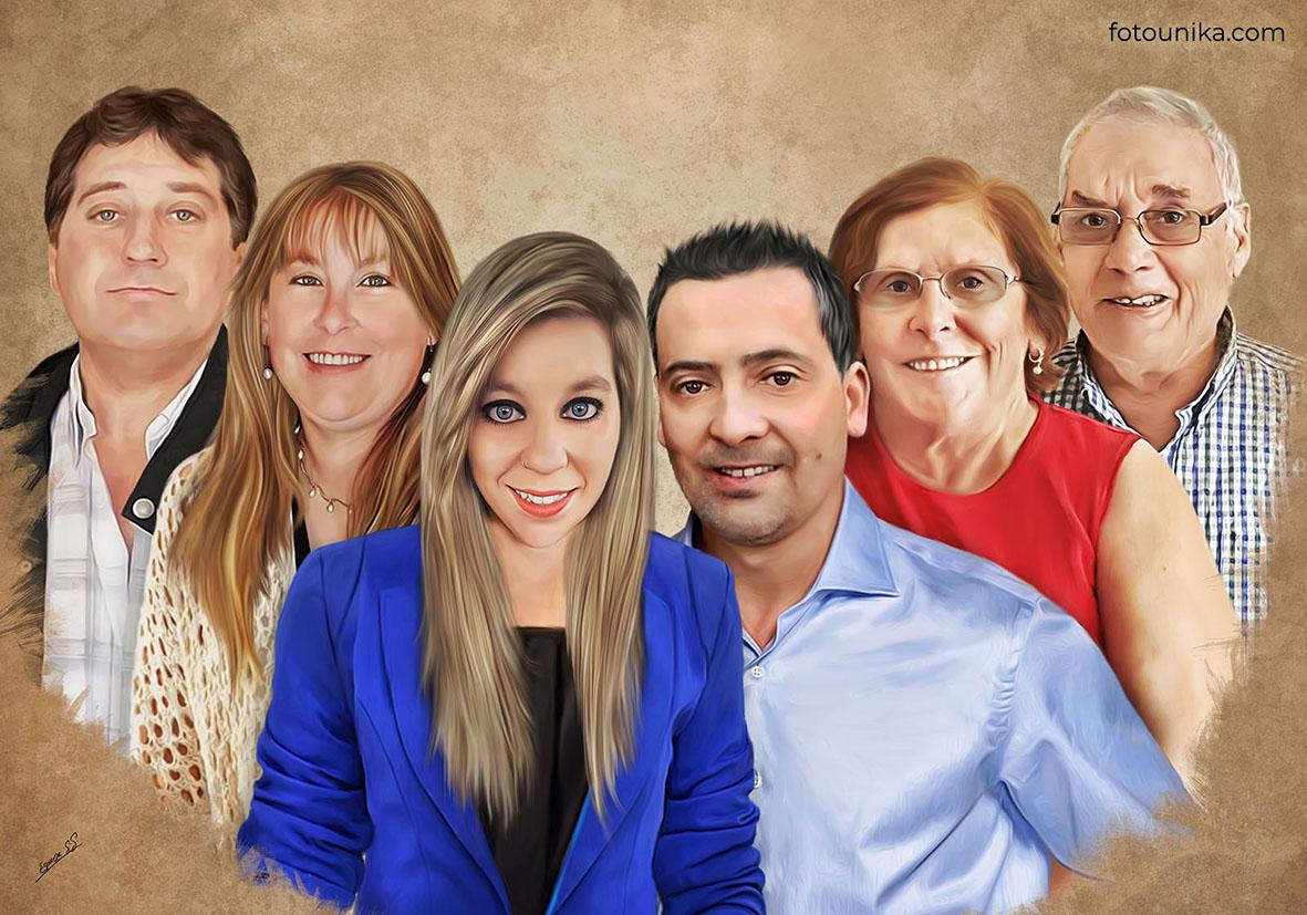 DETALLE BODAS PADRES OLEO FAMILIA NOVIOS C