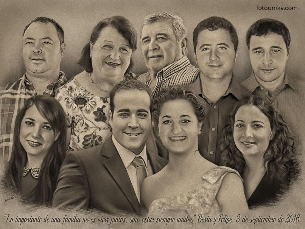 DETALLE DE BODAS PADRES CARBONCILLO H FAMILIA NOVIA