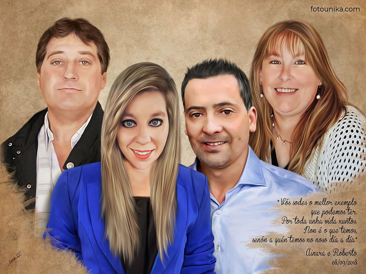 DETALLES BODAS PADRES OLEO FAMILIA NOVIA C