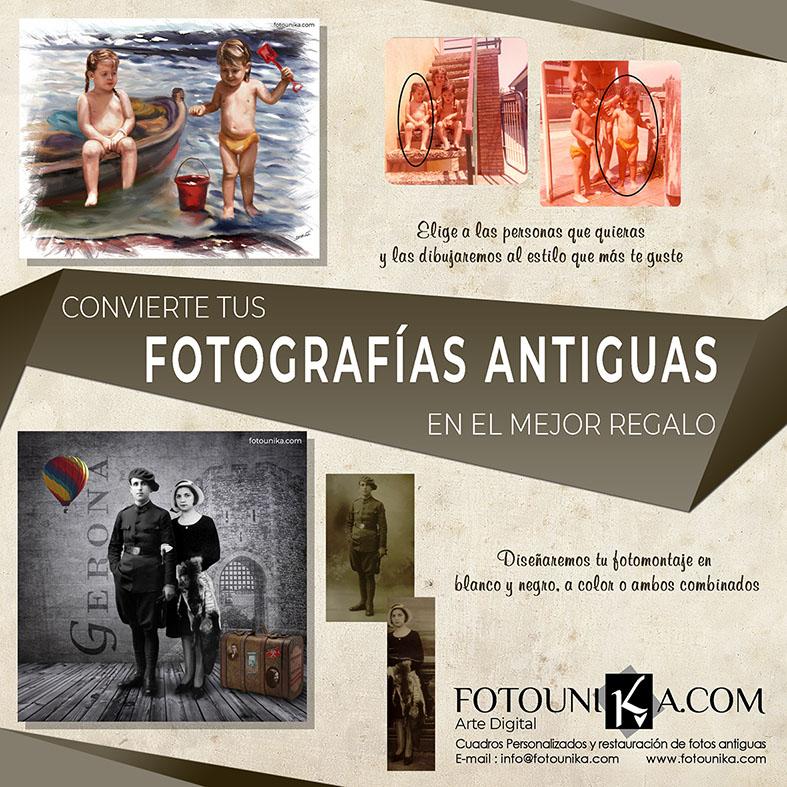 FOTOGRAFIAS ANTIGUAS TRANSFORMADAS EN CUADROS ORIGINALES FOTOUNIKA 1